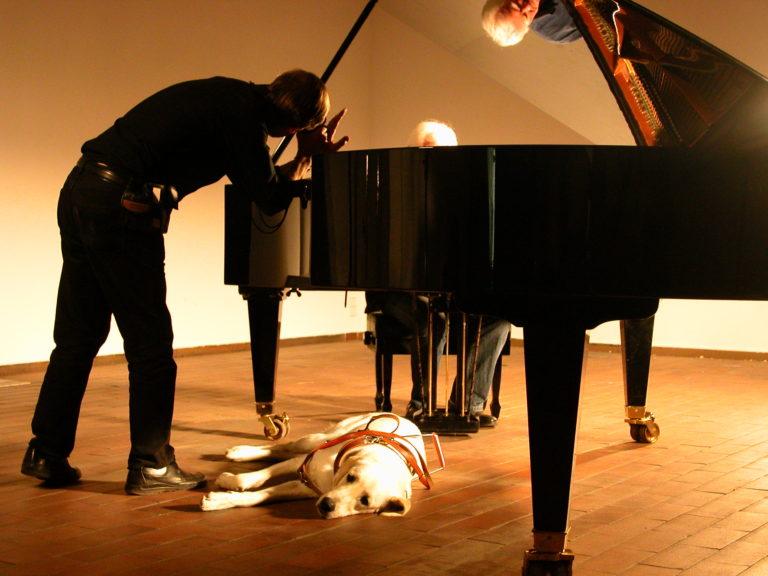 Tomas Pladevall y Lucien Dekoster en rodaje Die Stille vor Bach