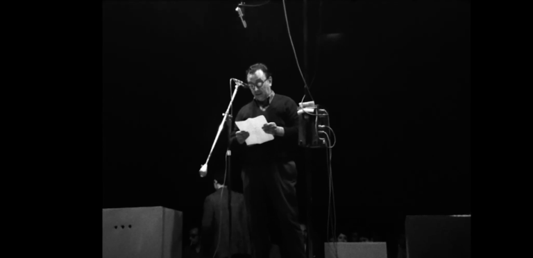 1970 – Video – Joan Brossa reads at the 1st Popular Festival of Catalan Poetry